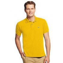 Lacoste Pique Polo Shirt  Mustard Yellow