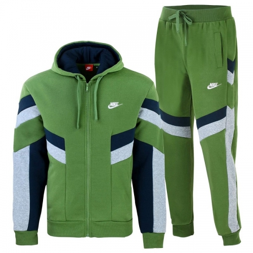 Nike Sportswear Full-Zip Hoodie & Pants Set Olive
