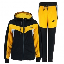 Nike Womens Essential Colorblock Full-Zip Fleece Hoodie & Pants Set