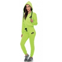 Nike Womens Essential Full-Zip Fleece Hoodie & Pants Set