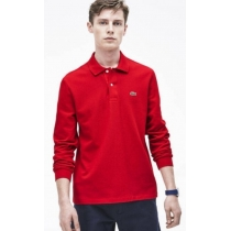 Lacoste Long Sleeve Pique Polo Shirt Red
