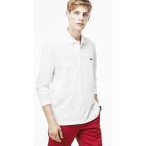 Lacoste Long Sleeve Pique Polo Shirt White