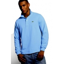Lacoste Long Sleeve Pique Polo Shirt Baby Blue