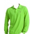 Lacoste Long Sleeve Pique Polo Shirt Lime