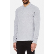 Lacoste Long Sleeve Pique Polo Shirt Heather Gray