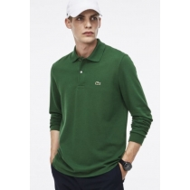 Lacoste Long Sleeve Pique Polo Shirt Kelly Green