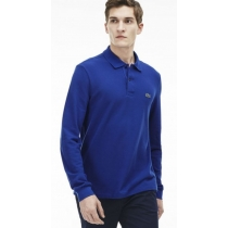 Lacoste Long Sleeve Pique Polo Shirt Midnight Blue