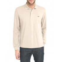 Lacoste Long Sleeve Pique Polo Shirt Tan