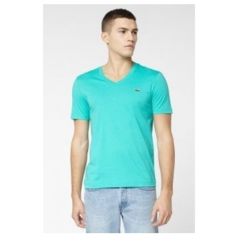 53de32273f Lacoste Men's Pima Cotton V-Neck T-Shirt Turquoise - Billsoutlets ...