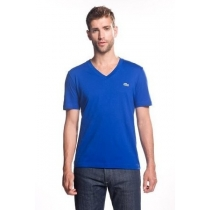 Lacoste Men's Pima Cotton V-Neck T-Shirt  Royal