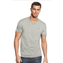 Lacoste Men's Pima Cotton V-Neck T-Shirt Gray