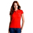 Lacoste Womens Classic Short Sleeve Polo Shirt - Red