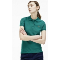 Lacoste Womens  Short Sleeve Polo Shirt -Kelly  Green
