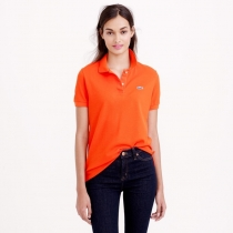 Lacoste Womens Classic Short Sleeve Polo Shirt - Orange