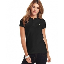 Lacoste Womens Classic Short Sleeve Polo Shirt - Black