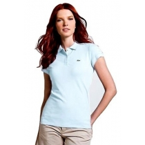 Lacoste Womens Classic Short Sleeve Polo Shirt - Rill Blue