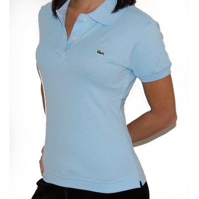 Lacoste Womens Classic Short Sleeve Polo Shirt - Rill Blue ... f380a48f52