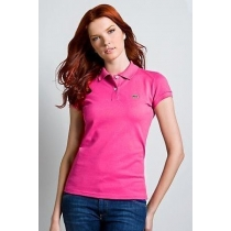 Lacoste Womens Classic Short Sleeve Polo Shirt - Hot Pink