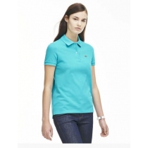 Lacoste Womens Classic Short Sleeve Polo Shirt - Turquoise