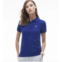 Lacoste Womens Classic Short Sleeve Polo Shirt - Royal