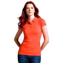 Lacoste Womens Classic Short Sleeve Polo Shirt - Terocota