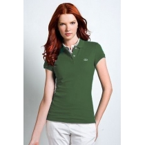 Lacoste Womens Classic Short Sleeve Polo Shirt - Olive