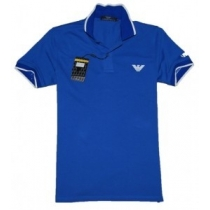 Armani Men's  Polo Shirt  Blue