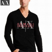 Armani Long Sleeve AX  Tee Shirt  Shirt Black