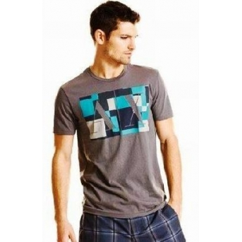 Armani Men's Tee Shirt In AX  Gray