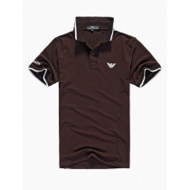 Armani men's Polo Shirt  Heather Brown