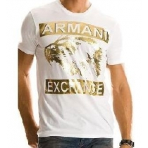 Armani Men's Tee Shirt In Silver AX  White