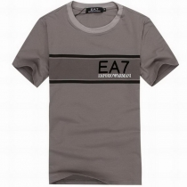 Armani  Men's  EA 7 Crew Neck  Tee Shirt In Gray