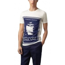 Burberry Men's Book Cover Print Cotton T-Shirt
