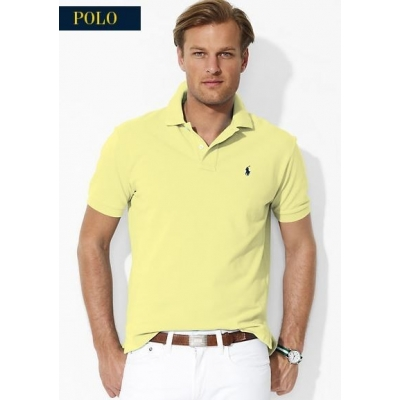 Polo Ralph Lauren Men\u0027s Classic-Fit Polo Shirt Yellow