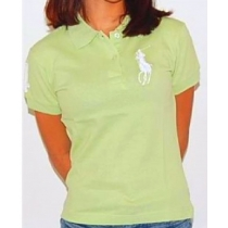 Ralph Lauren Women's Skinny Solid Pony - Lime