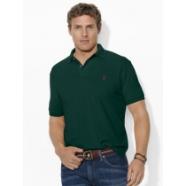 Polo Ralph Lauren Classic-Fit Mesh Polo Black Red Pony