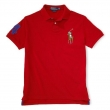 Ralph Lauren Multicolor Big Pony Short Sleeve Polo Shirt (Red)