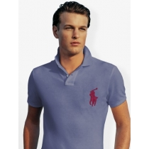 Ralph Lauren Big Pony 3 Short Sleeve Polo Shirt - Sky/RedHrse