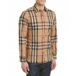 Burberry Brit Men's Long Sleeve Check Shirt Carmel