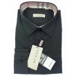 Burberry Britt Men's  Long Sleeve  Check Inner Collar  Black