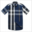 Burberry Men's Cotton  Check Button Down Short Sleeve Shirt