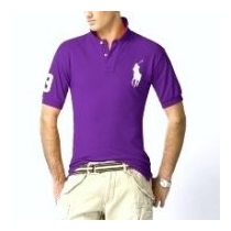 Ralph Lauren Big Pony 3 Short Sleeve Polo Shirt - Purple