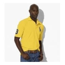 Ralph Lauren Big Pony 3 Short Sleeve Polo Shirt  Yellow-