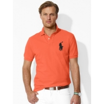 Ralph Lauren Big Pony 3 Short Sleeve Polo Shirt  Orange