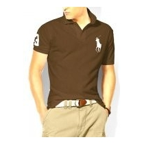 Ralph Lauren Big Pony 3 Short Sleeve Polo Shirt  Brown