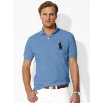Ralph Lauren Big Pony 3 Short Sleeve Polo Shirt  Harbor Blue
