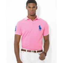 Ralph Lauren Big Pony 3 Short Sleeve Polo Shirt  Pink