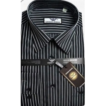 Giorgio Armani Black W White Pin Stripe Button Down Final Sale