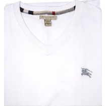 Burberry Brit Men's Lindon Cotton V-Neck Tee in White
