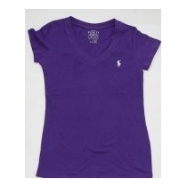 Polo Ralph Lauren Women's V Neck T Shirts Purple